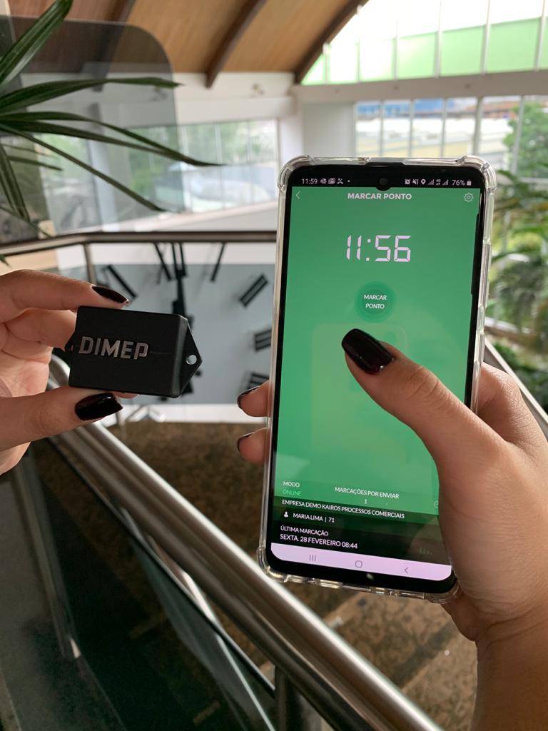 DIMEP lança Ponto Aqui, marcação de ponto por smartphone que detecta a presença dos colaboradores